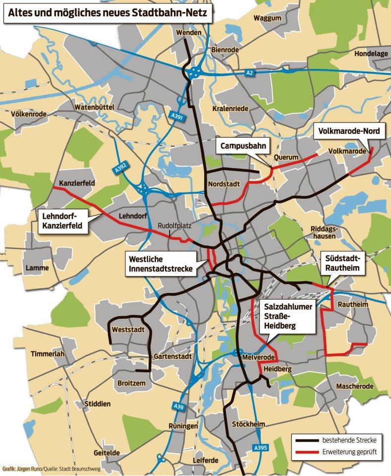 Straßenbahn-Ausbau: Die Trassen im Detail